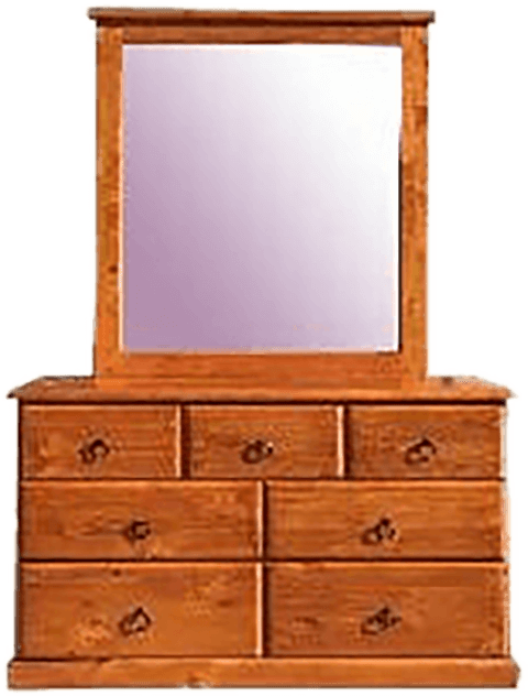 7 Drawer 'Classic' pine dresser with mirror