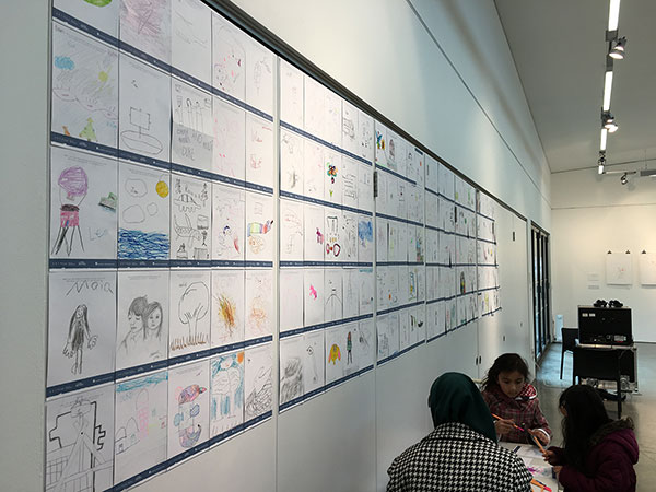 Collaboration and drawings from the local community