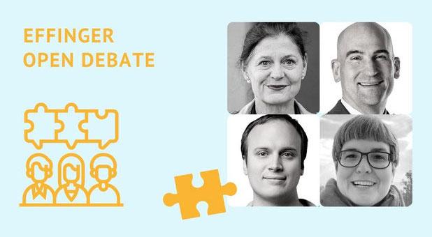 Portraitfotos der Debattengaeste