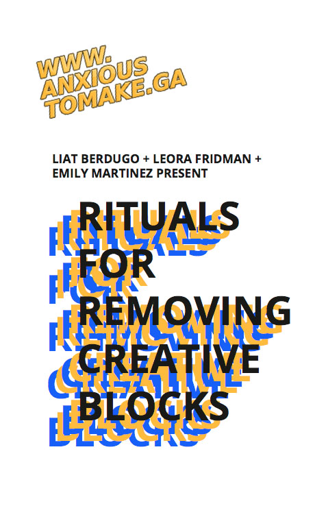 Rituals For Removing Creative Blocks