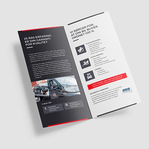 Brochure til Horsens autoskadecenter