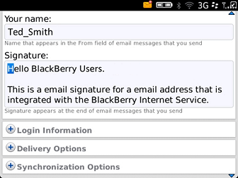 Email Signature Setup for Blackberry