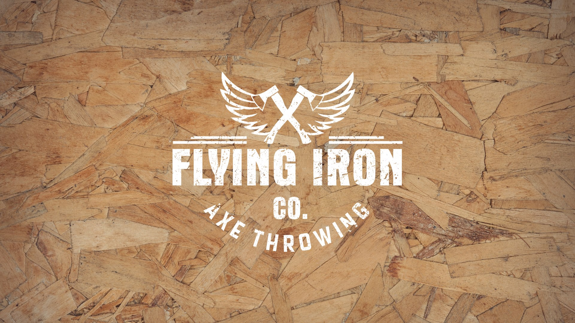 Flying Iron Co. Axe Throwing Logo