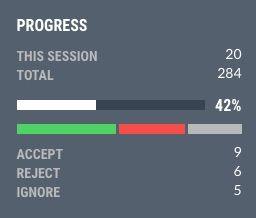 Progress bar in the web app