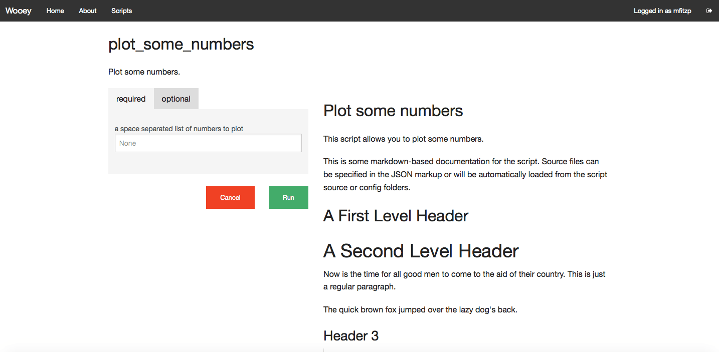 plot_some_numbers script with docs