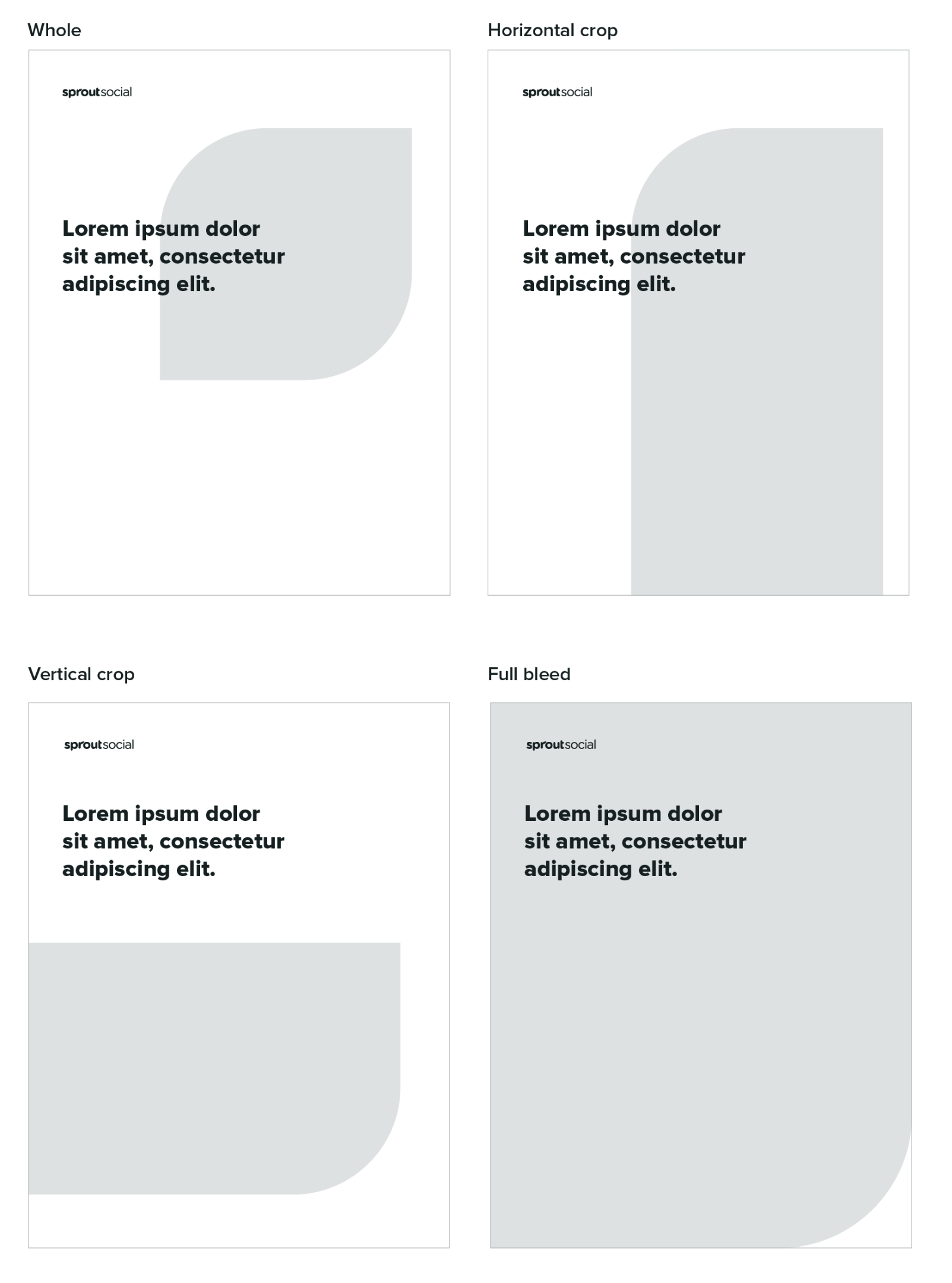Examples of different design layouts