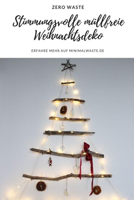 Pinterest Cover zu '6 Tipps für stimmungsvolle Weihnachtsdeko (müllfrei)'