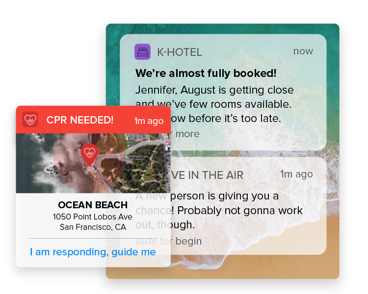 Notify users with alerts