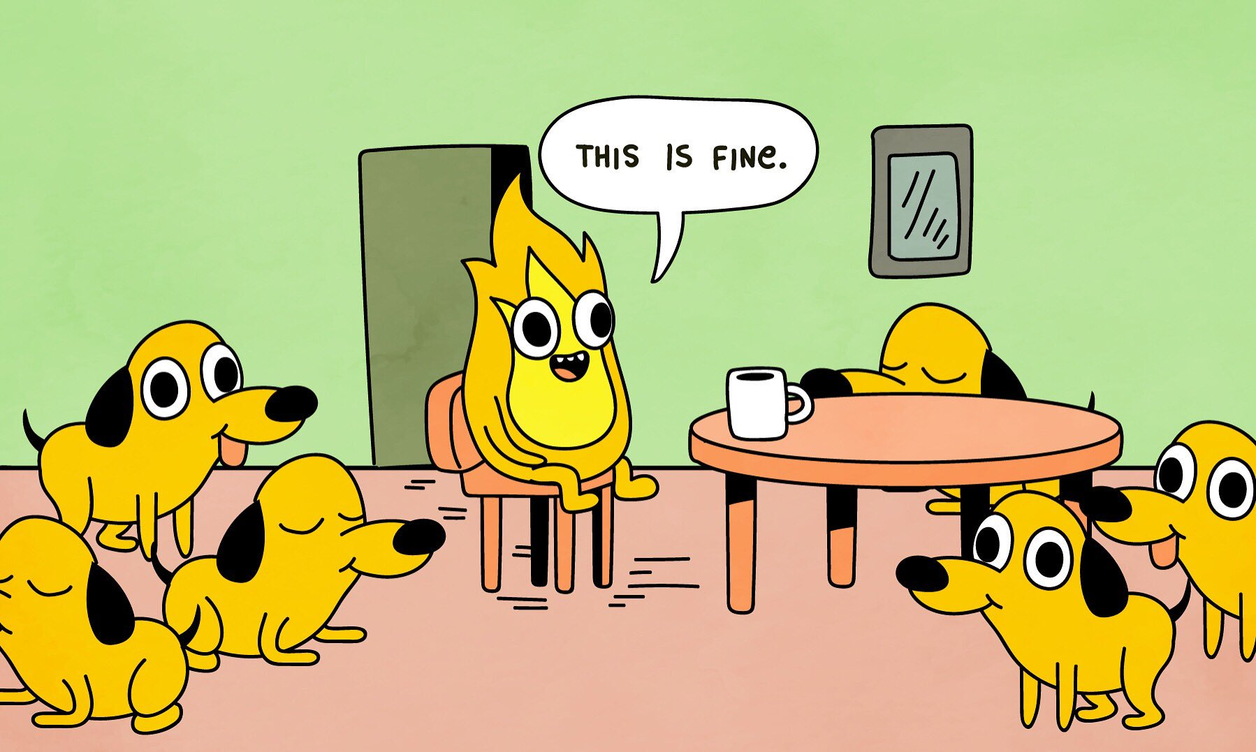 This is fine - Alex Villegas, Twitter