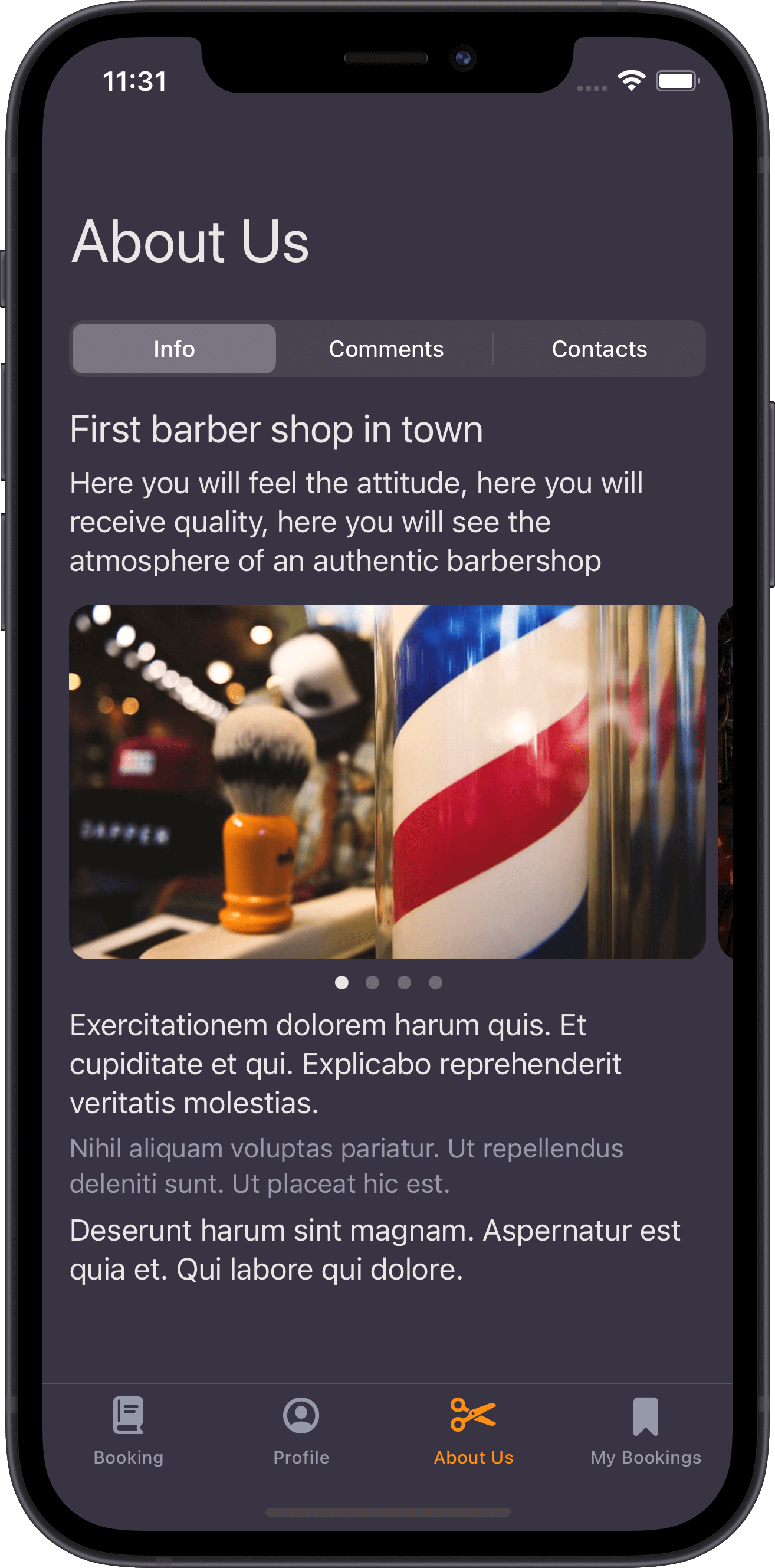 barber-shop, ui, ux, ios design, design system, apple