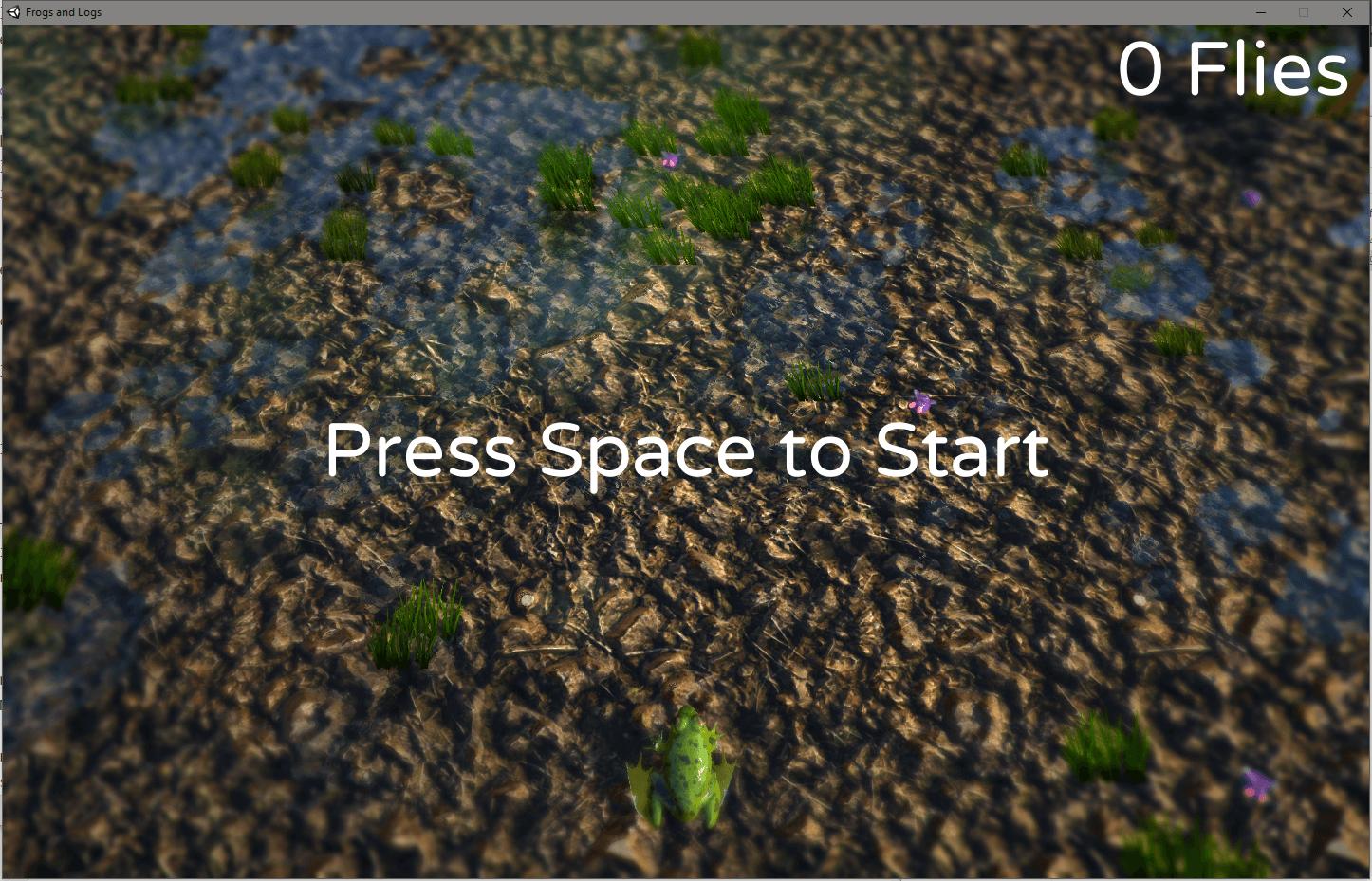 Screenshot of my Frogs n' Logs Game