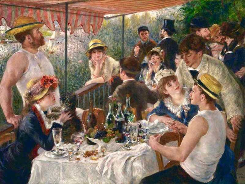 Renoir's masterful Luncheon at the Boating Lake was shown in the seventh impressionist exhibition