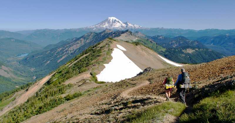 Looking back toward Mt. Rainier