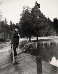 Zola, Francois Emile: Zola photographed in Bois de Boulogne
