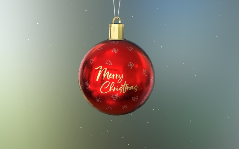 a 3D rendered christmas tree ball