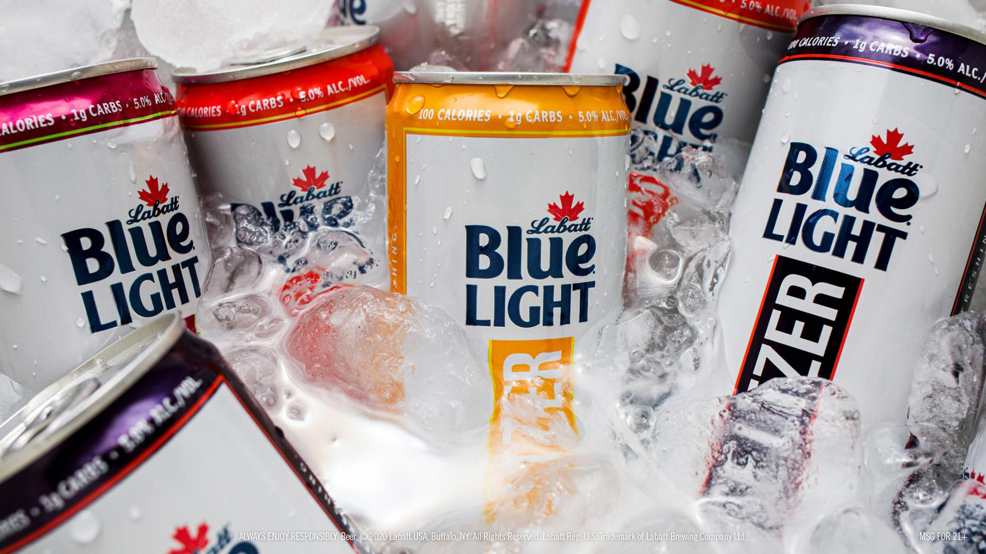 Labatt Seltzer Cans in Ice