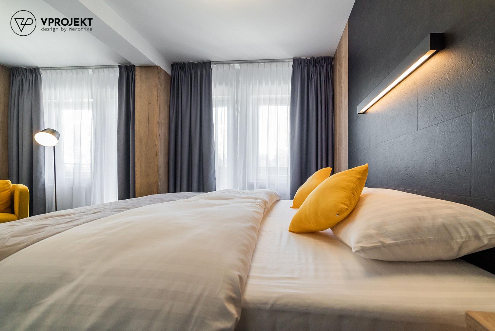 Wnętrze apartamentu, część sypialniana