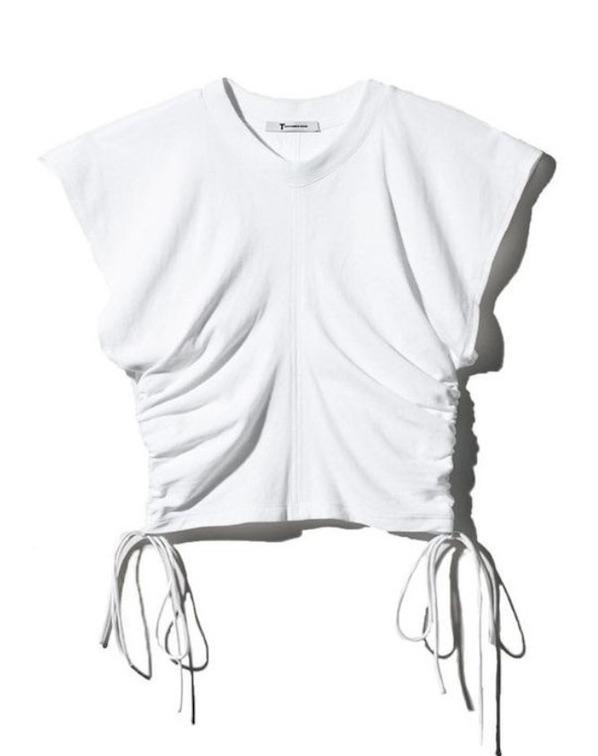 T-shirt à fronces sur les côtés
