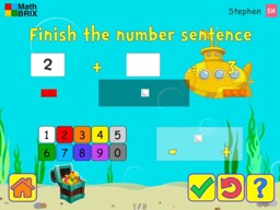 Add and subtract within 10 with brix (unknowns anywhere) Math Game