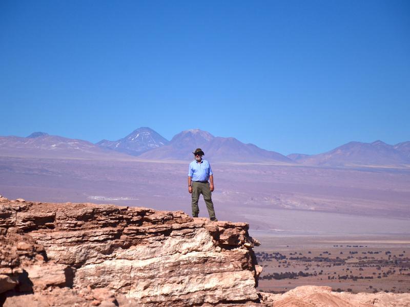 Tim dwarfed by the Atacama desert