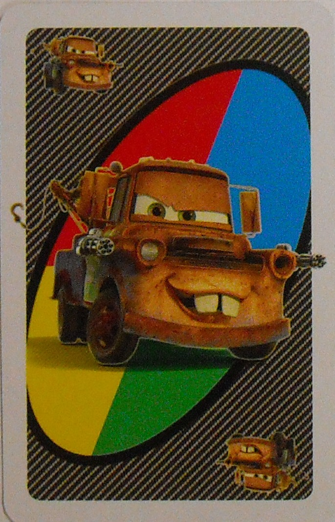 Cars 2 Uno (Special Agent Mater Card)