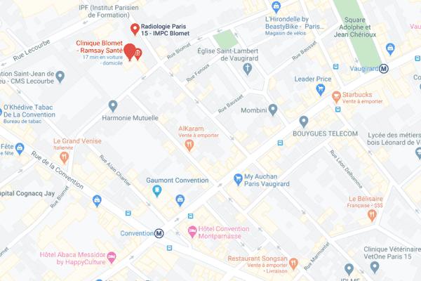 Carte clinique Blomet