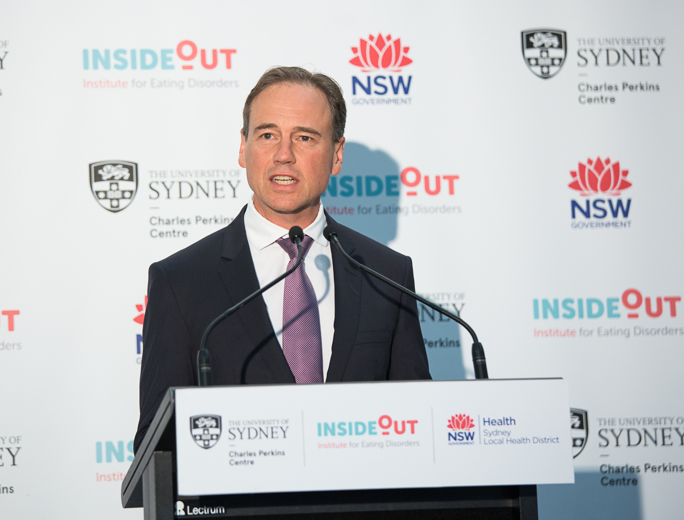 Hon Greg Hunt MP, Federal Minister for Health, launches the InsideOut Institute