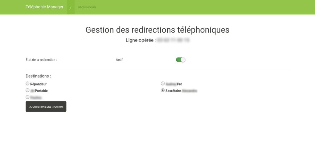 Screenshot Telephony Manager