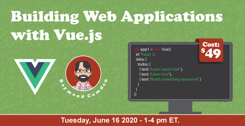 Banner for Building Web Applications with Vue.js