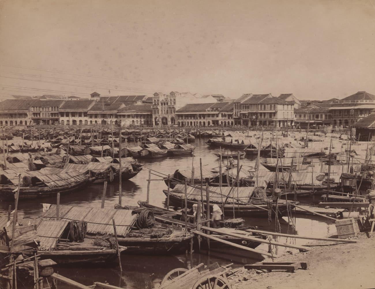 Singapore River, 1880s