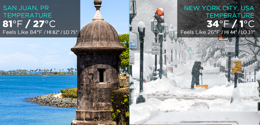 Puerto rico tourism company winter
