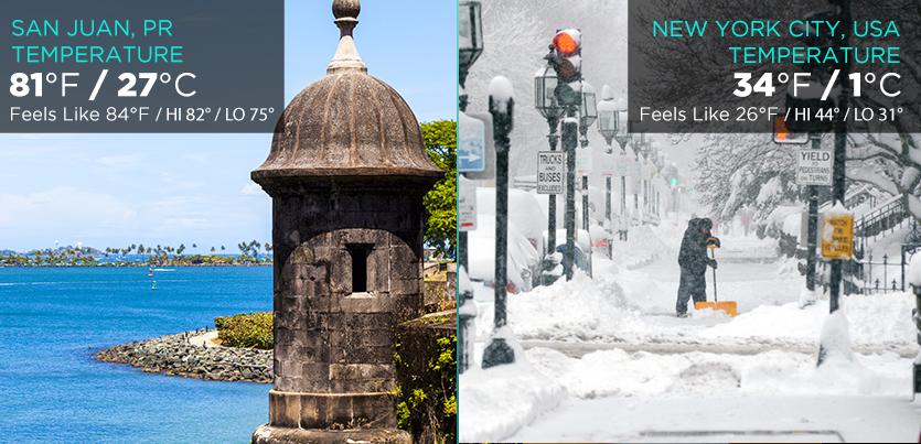 Puerto rico tourism company winter