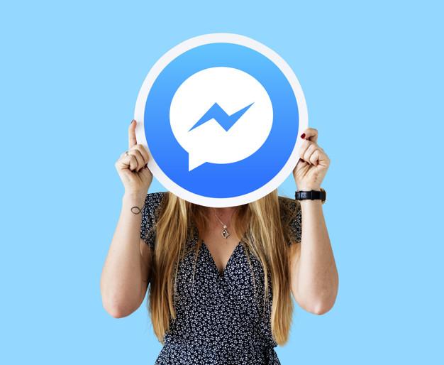 girl behind facebook messenger