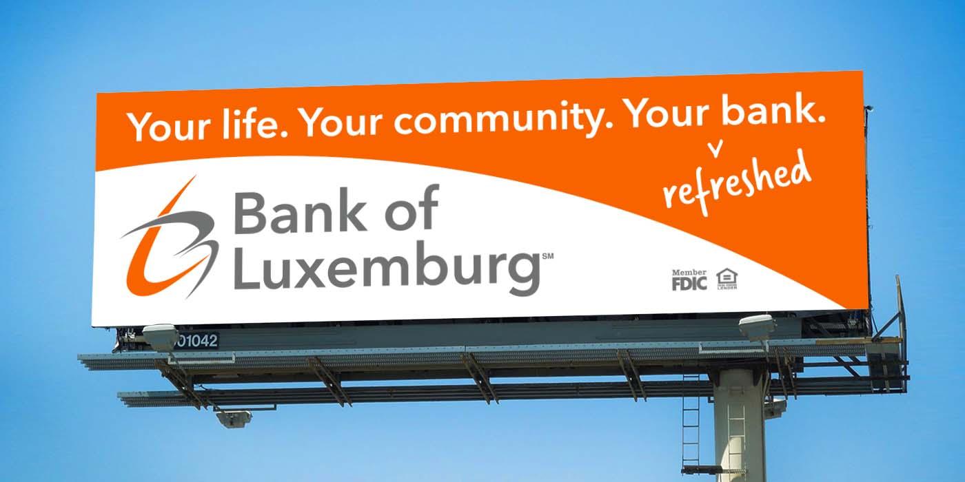 Bank of Luxemburg Billboard Example