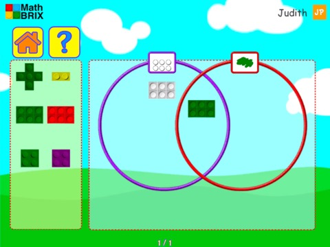 Sorting by color and value with Venn Diagrams Math Game