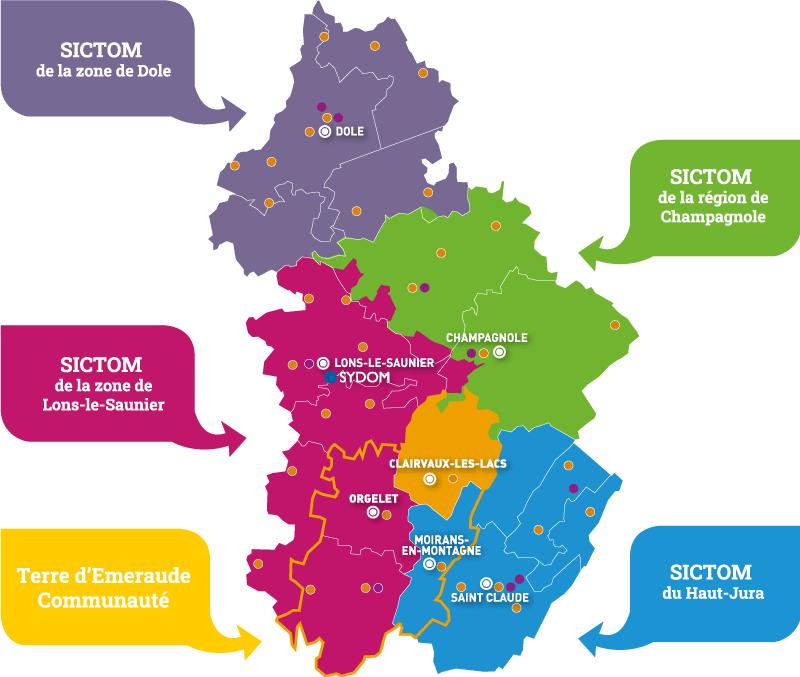 Carte des SICTOM