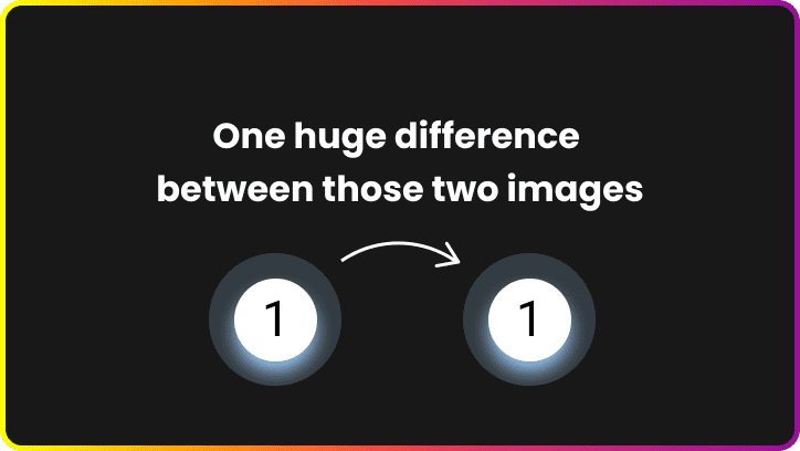 One huge difference between those two images. Replacing image with CSS saves at least 4x more data.