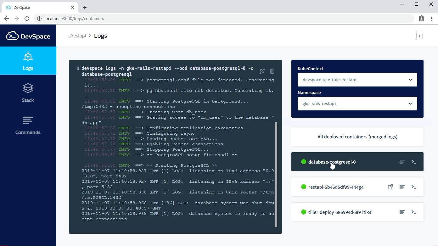DevSpace Localhost UI