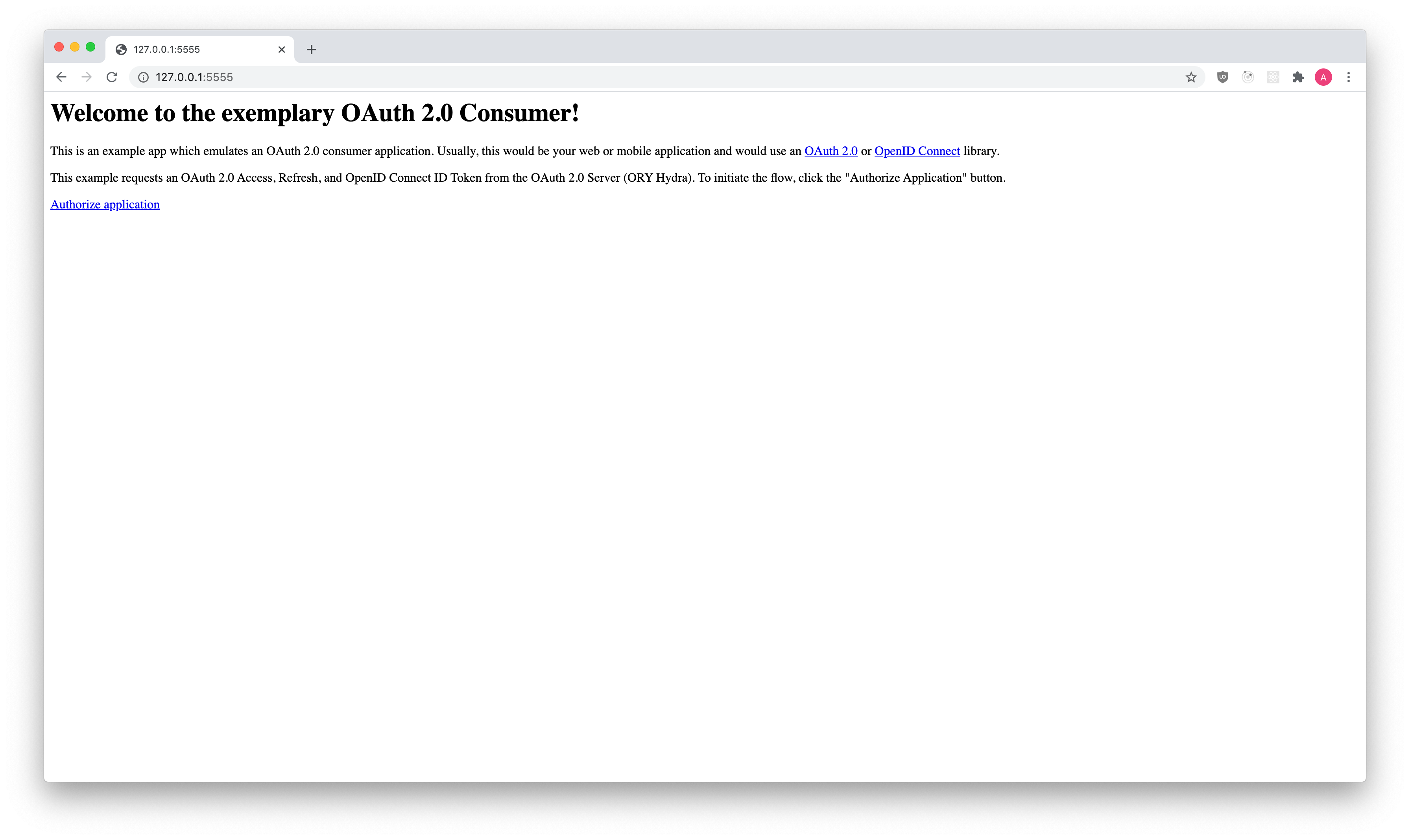 OAuth 2.0 Client