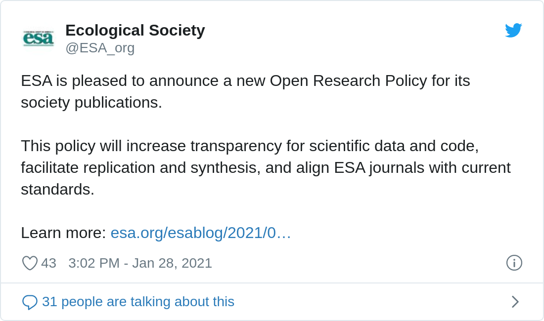 Read the announcement at: https://www.esa.org/esablog/2021/01/28/esa-data-policy-ensuring-an-openness-to-science/