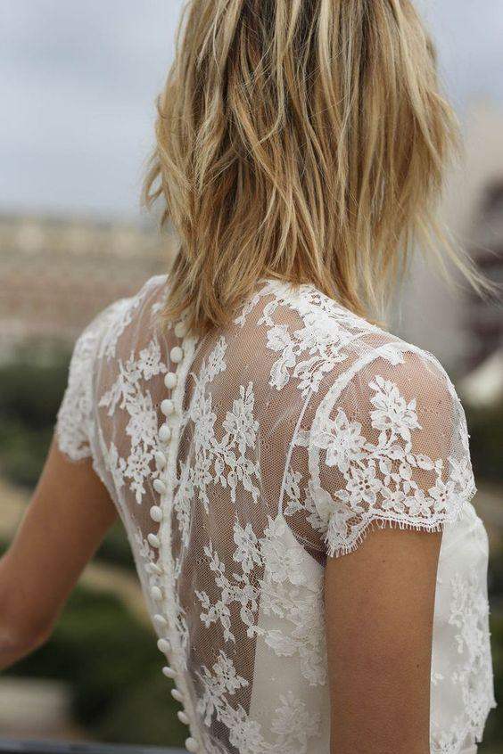 Dos robe de mariée en dentelle
