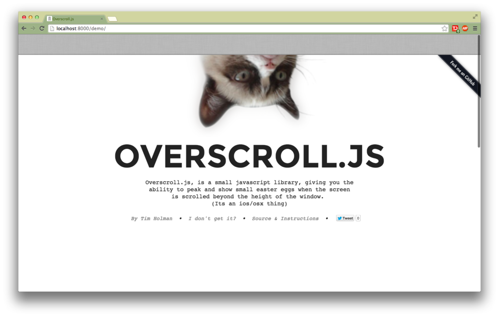 Overscroll in action