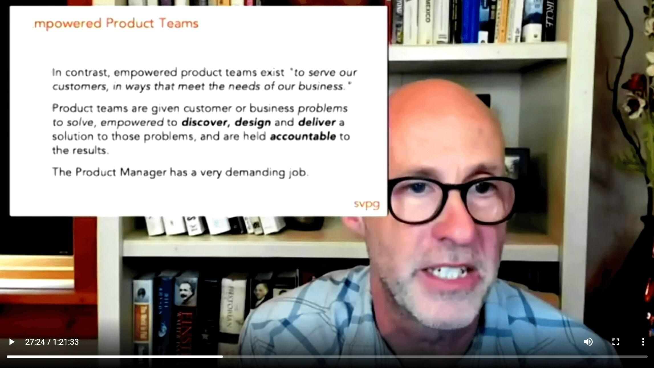 Times de produto empoderados são times que tentam resolver problemas do negócio e dos consumidores