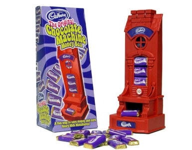 A Cadbury's money box and chocolate dispenser..