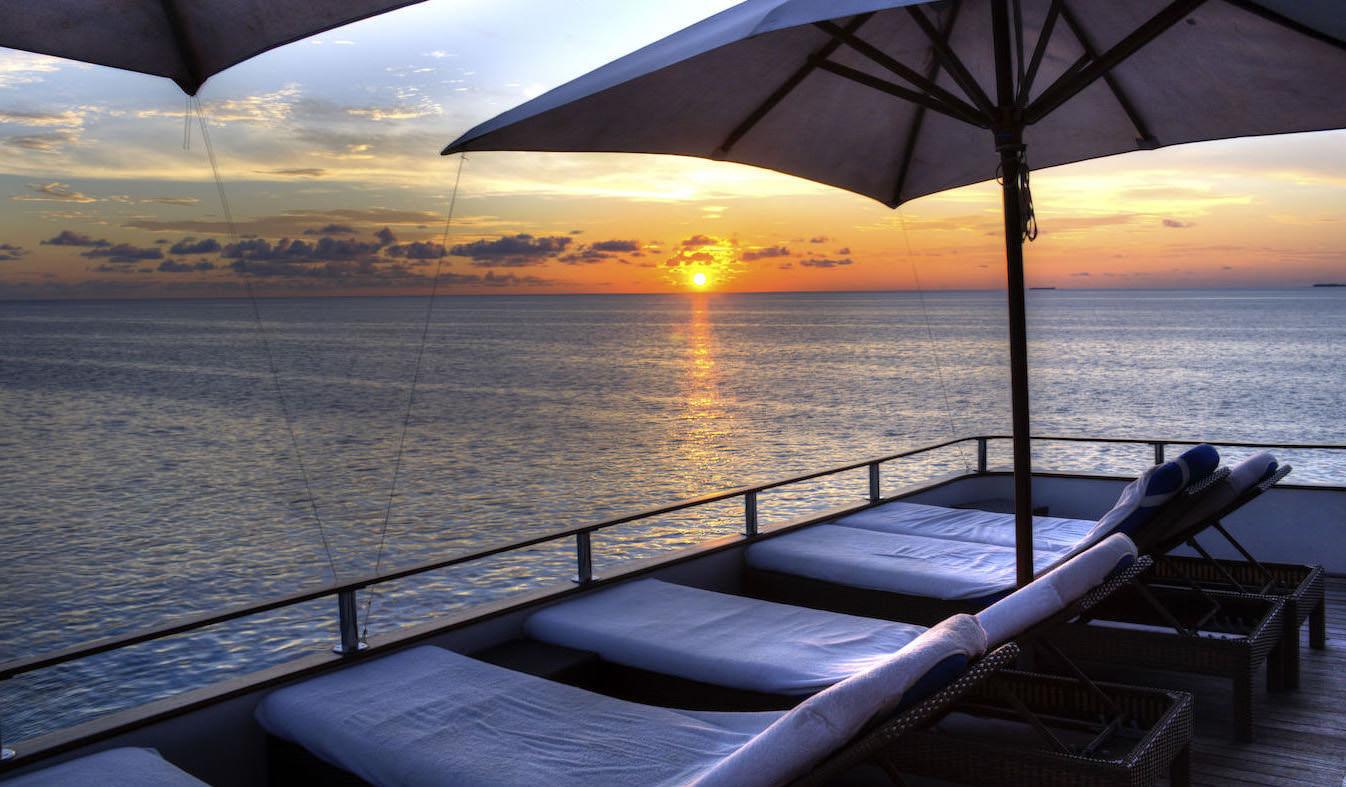 Ocean Divine Luxury Surf Yacht Charter Boat Maldives Sunbeds