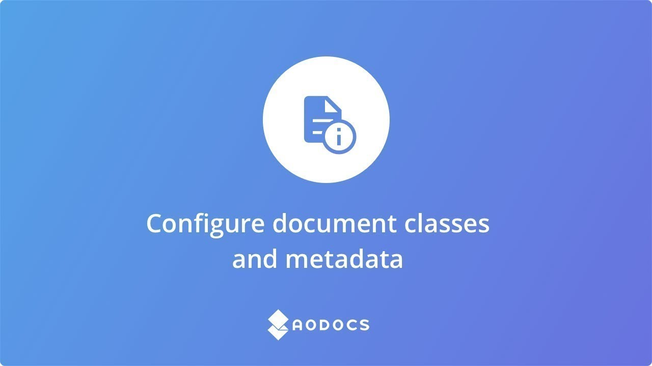 Configure Document Classes and Properties's thumbnails