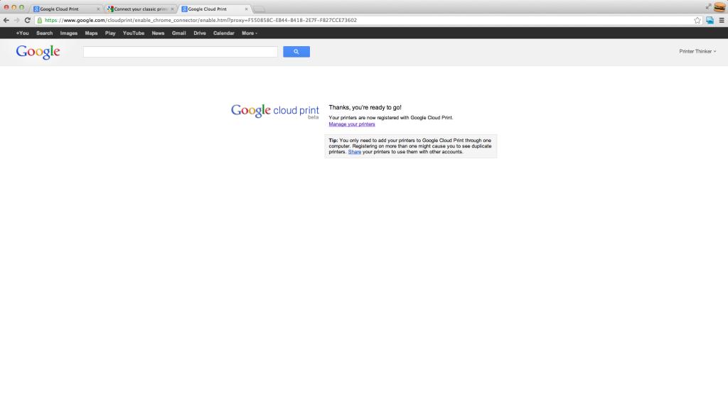 Google Cloud Print Screenshot