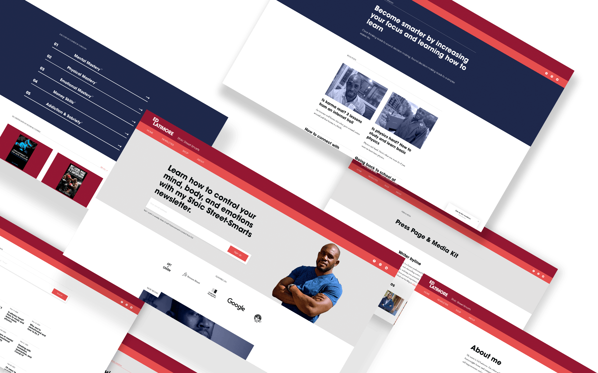 Pages from Ed Latimore's website