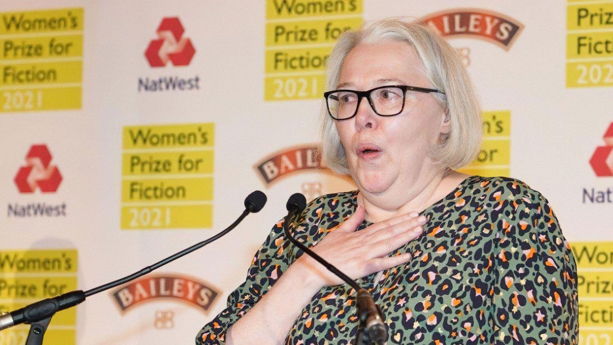 Сюзанна Кларк нацеремонии вручения премии Women's Prize for Fiction. Фото: BBC