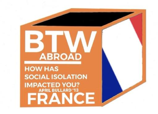 Graphic with French flag